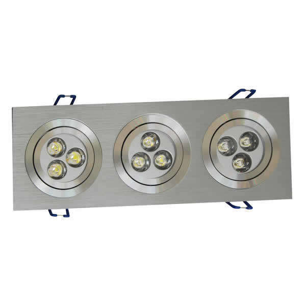 Downlight rectangular LED 9W