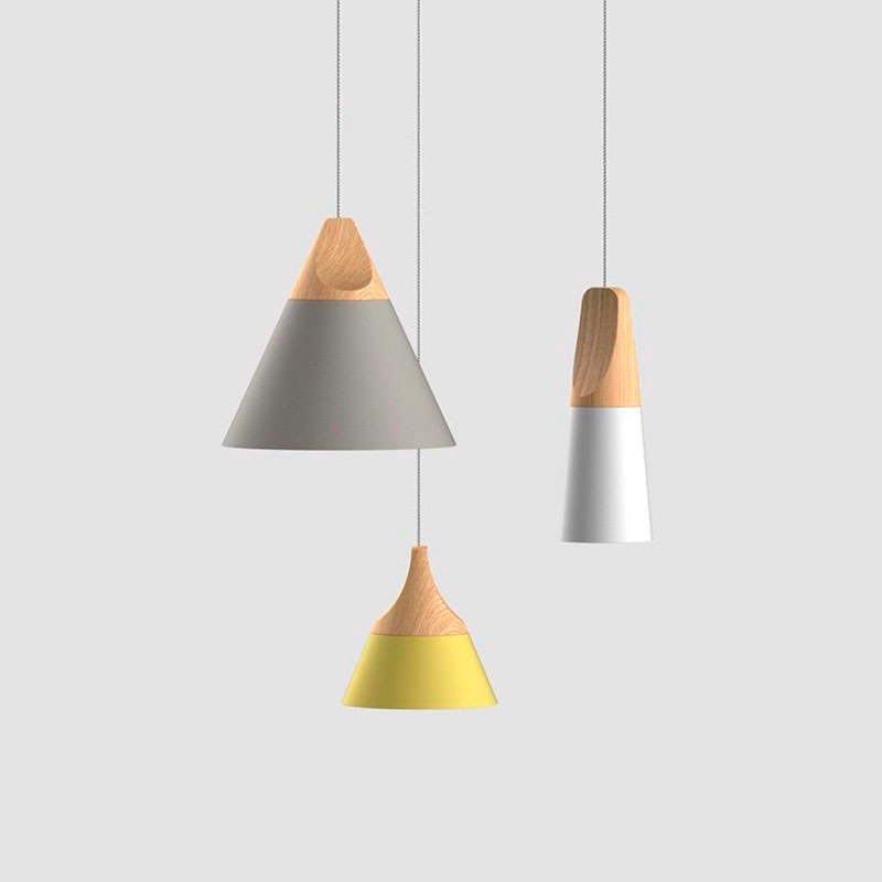 Lámpara colgante KONO Amarillo