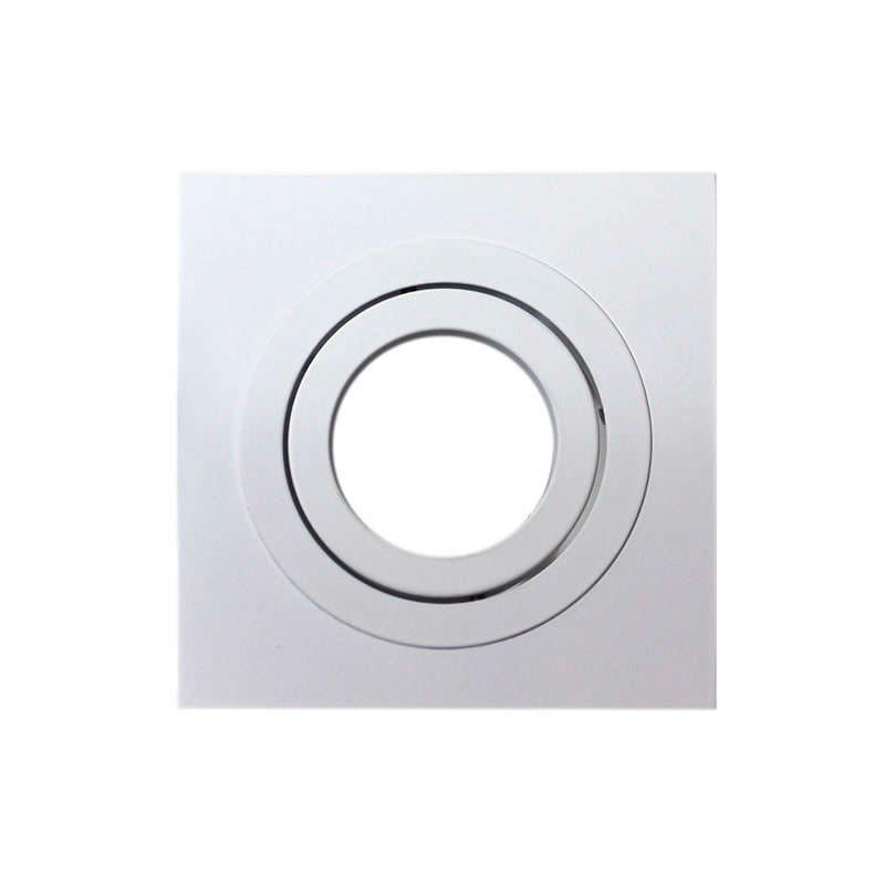 Housing for led downlight,  square (x 2 rings)
