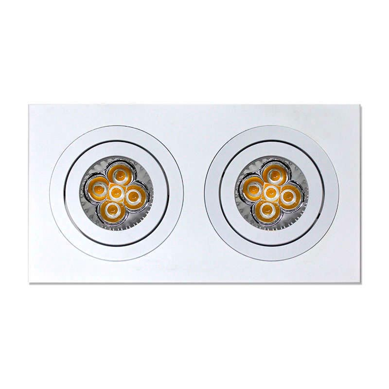 Housing for led downlight,  x2 adjustable spots