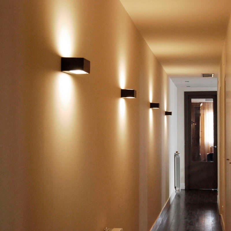 cube silver iluminaci n interior apliques de pared