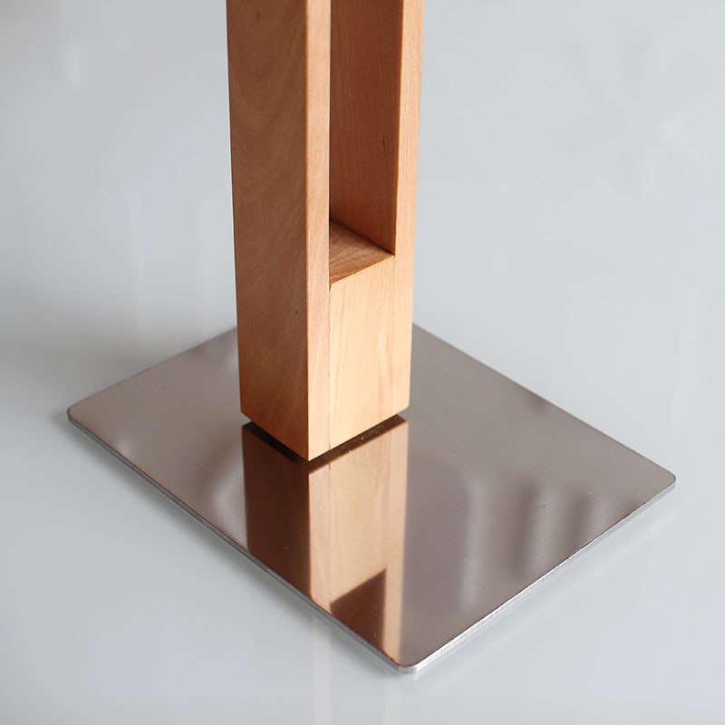 L mpara led de madera carfi 40 iluminaci n interior - Lamparas con madera ...