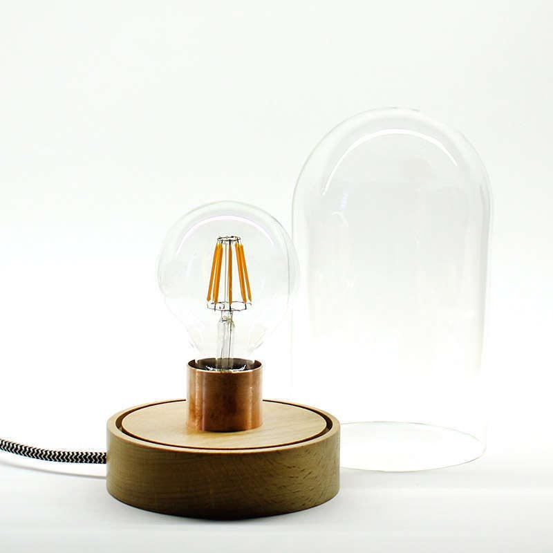 Lámpara BELL JAR 220, 8W, regulable