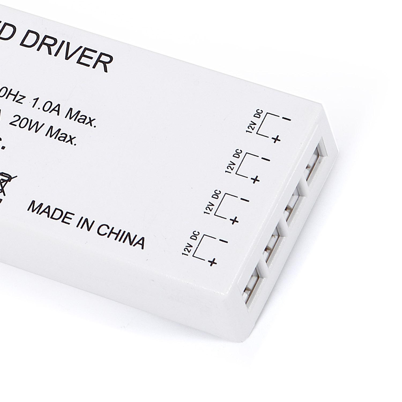 Fuente de alimentación DC12V/20W/1,7A, 4 salidas