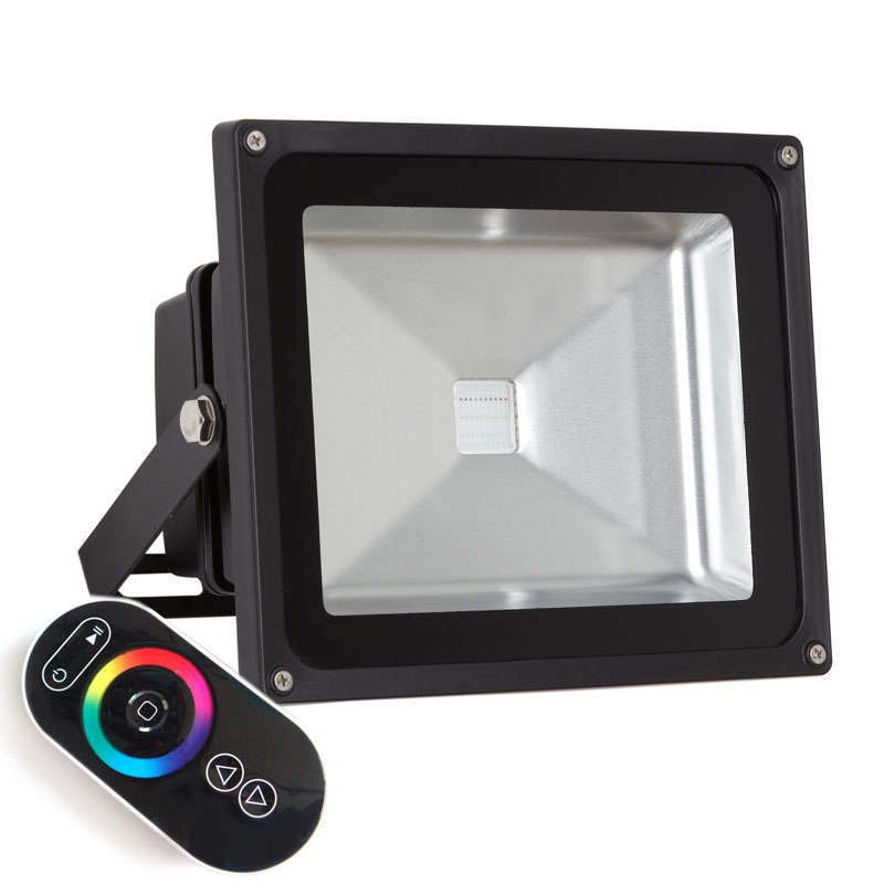 Proyector Led de exterior MICROLED, 50W, RGB-RF