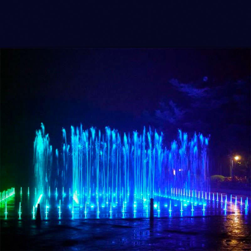 Foco sumergible fountain led 18w rgb iluminaci n for Focos iluminacion exterior