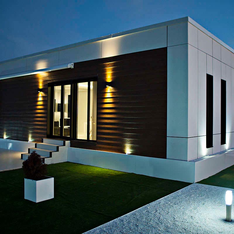 Aplique karpa iluminaci n exterior apliques led ledbox - Apliques de luz para exteriores ...