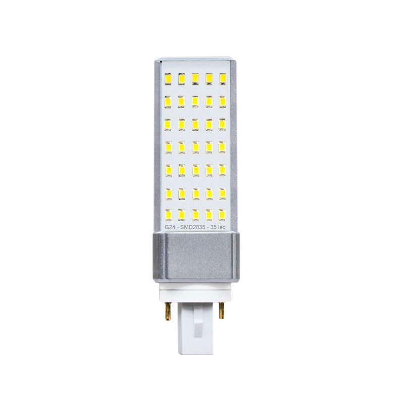 Bombilla Led G24 (2 pin) SMD2835, 8W
