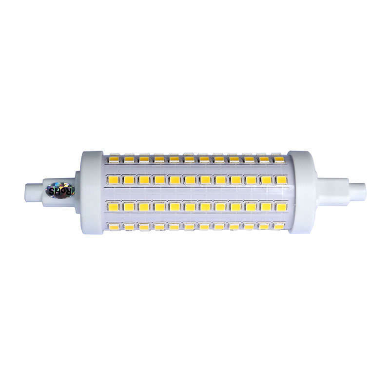 Bombilla LED R7S, 10W, 108xSMD2835, 360º, 118mm