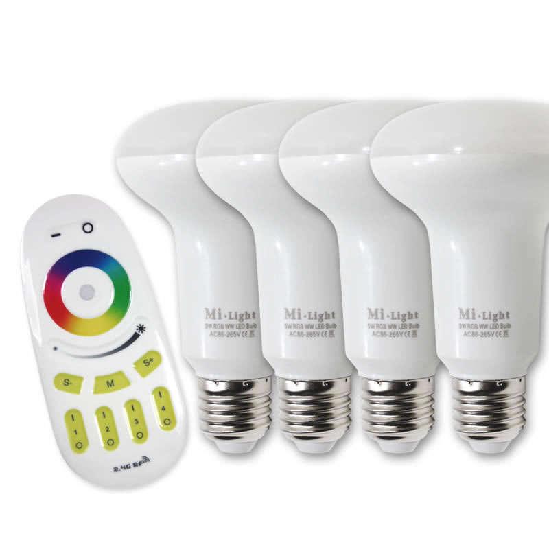 Bombilla led PAR30 WiFi E27 Bulb 9W RGB+Blanco cálido