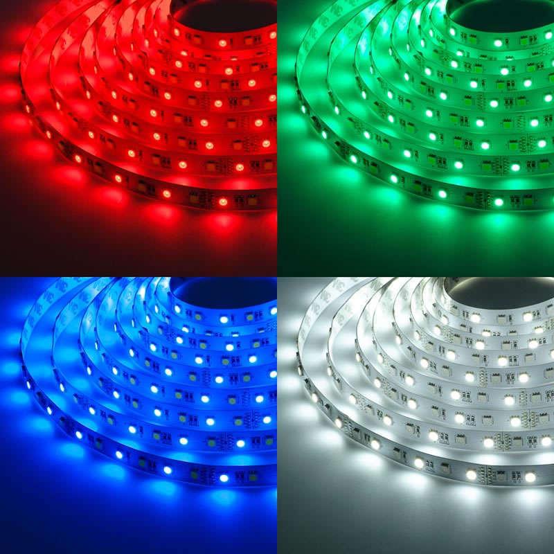 Tira LED SMD5050, RGB+WW, DC24V, 5m (60Led/m) - IP67