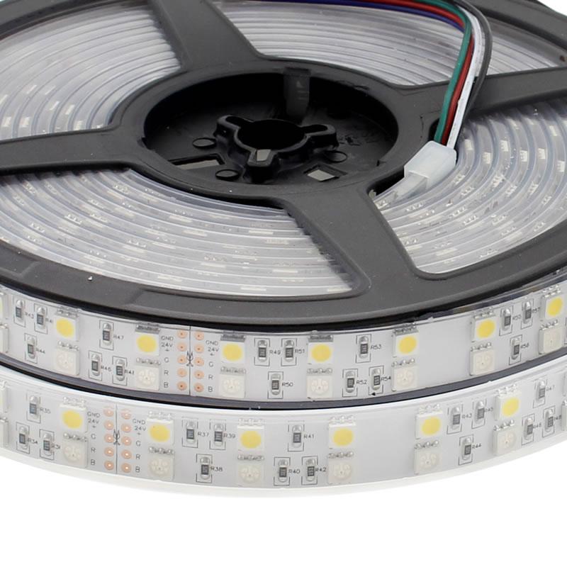 Tira LED EPISTAR SMD5050, RGB+NW, DC24V CC, 5m (120Led/m) - IP65