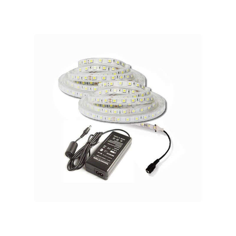 KIT tira LED flexible SMD5050, 5m (30 Led/m) - IP65