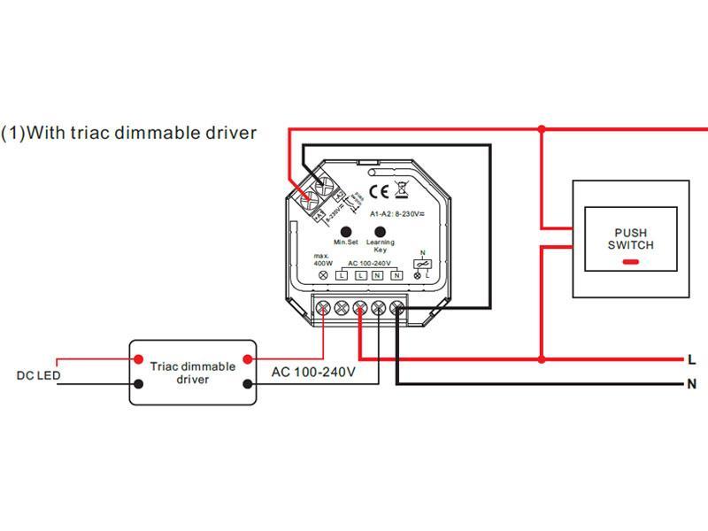 Transmisor tira de selector de voltaje 240v