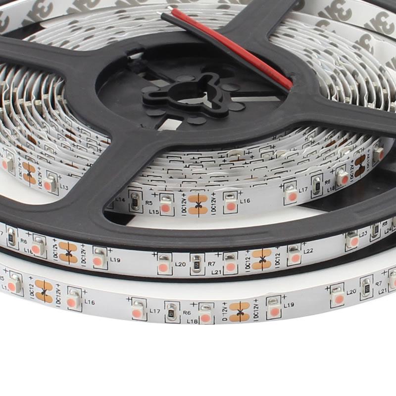 Tira LED SMD3528, DC12V, 5m (60 Led/m), ROSA - IP20