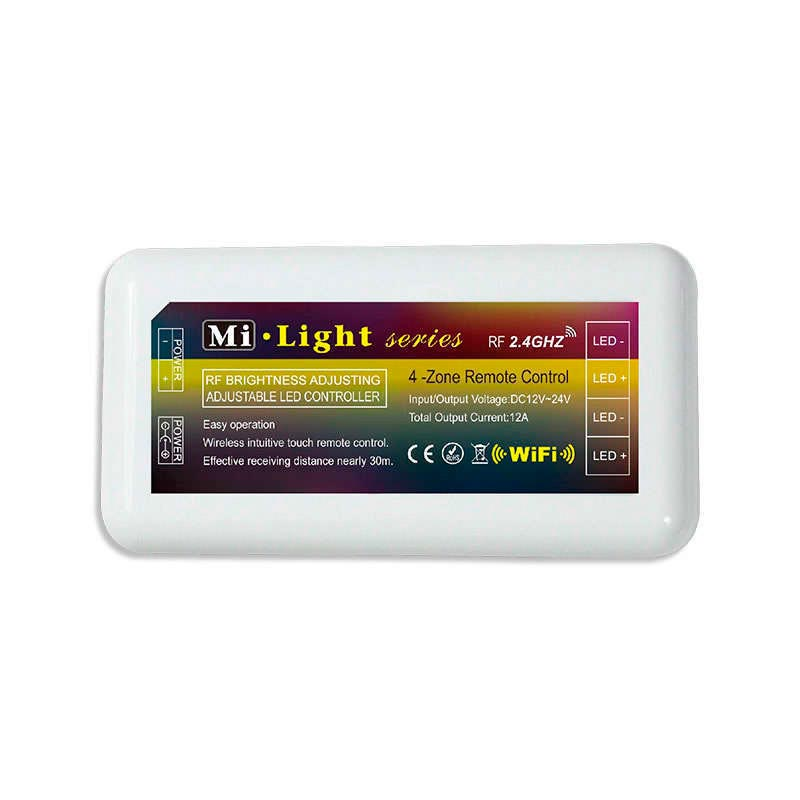 Controlador monocolor RF 4 zonas + mando