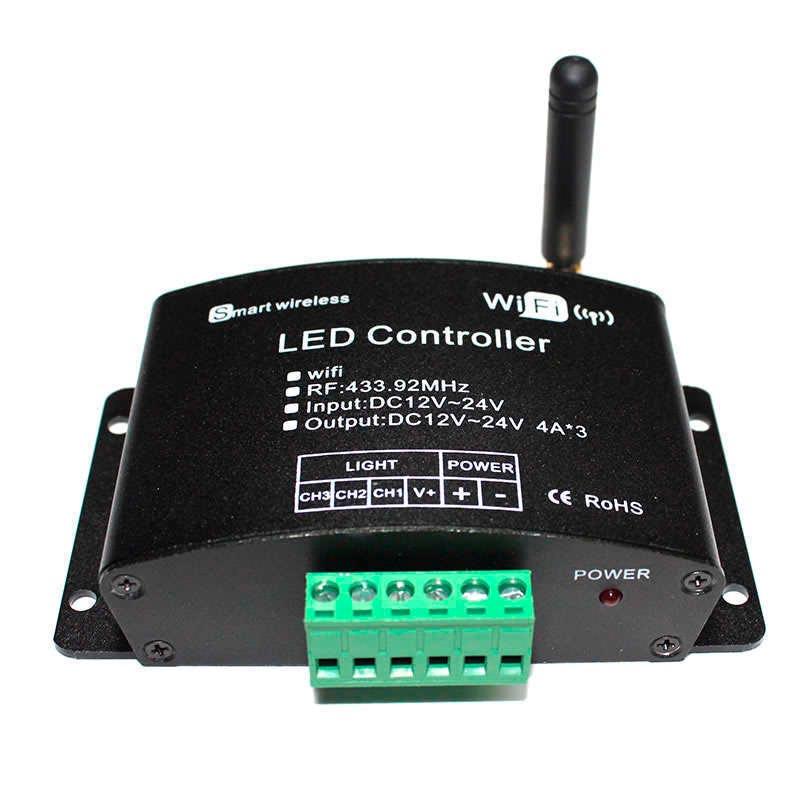 Controlador WIFI-LED V03 (mono, dual, RGB) + RF control