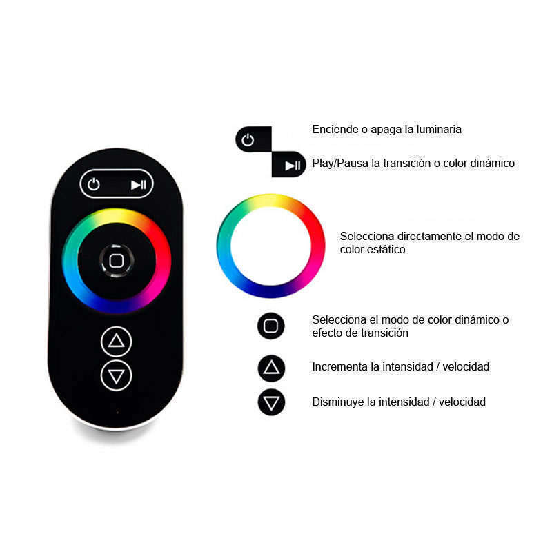 RGB LED strip controller RF + touch remote control