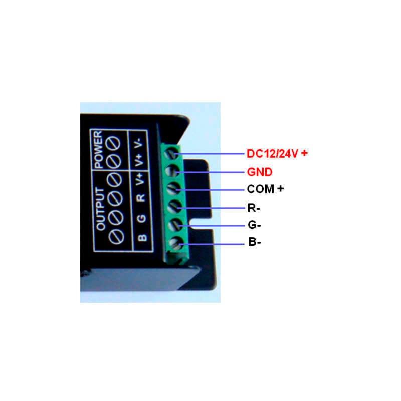 Controlador DMX tira led RGB + mando a distancia