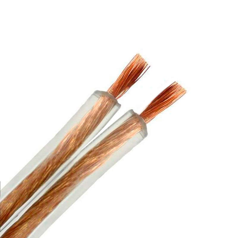 Cable transparente 2x1,5mm gold 1m
