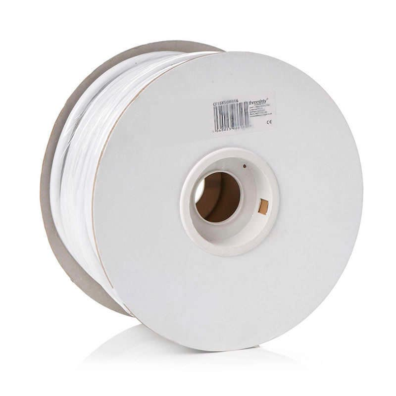 Cable redondo 2x0,75mm, 1m, blanco