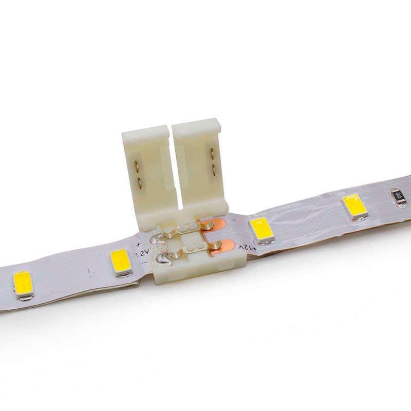 Unión / conector rígido CLICK para tiras LED monocolor, 8mm