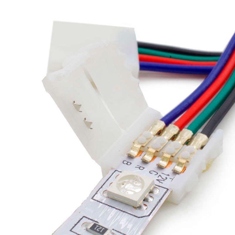 Cable de conexión directa doble para tira LED RGB (4 Pin) 10mm