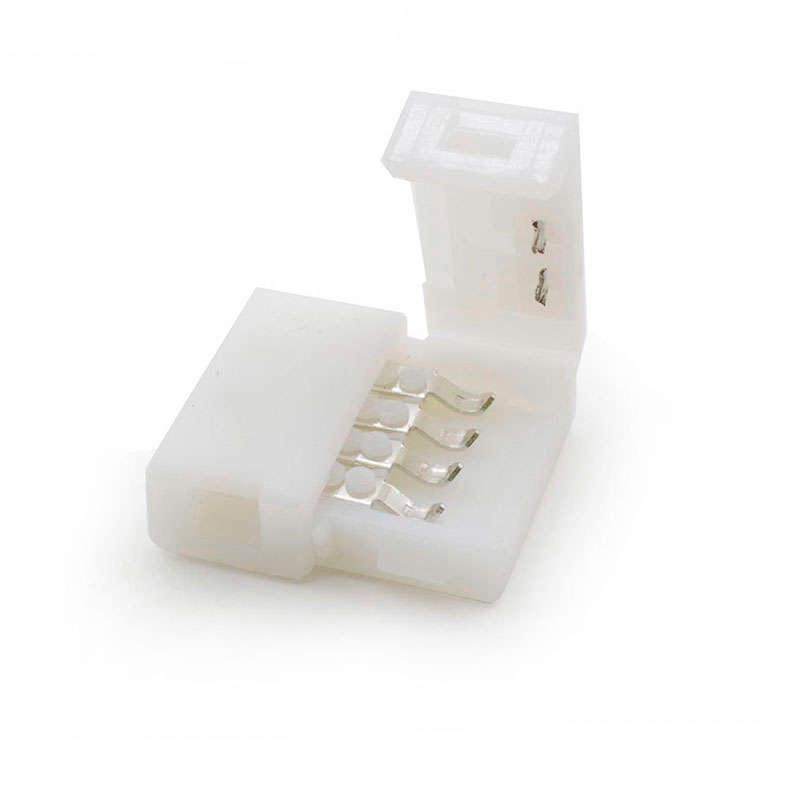 Unión / conector rígido Pin Click para tiras LED RGB 4 pin
