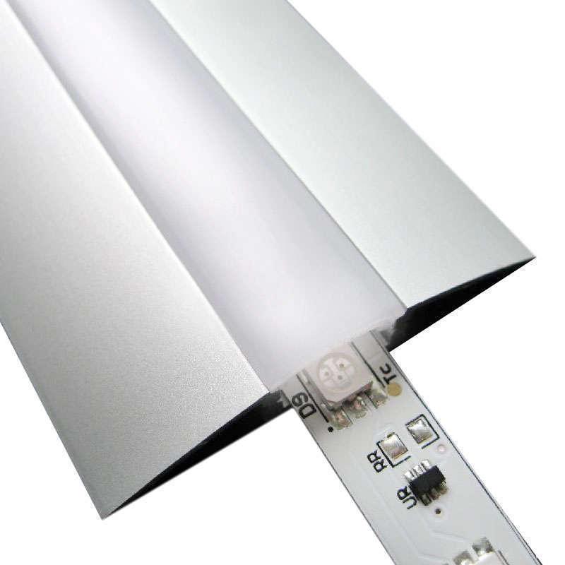 Perfil aluminio trend para tiras led 2 metros tiras led - Tiras de aluminio ...