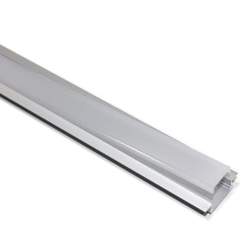 Perfil aluminio KOBE PRESS para tiras LED, 2 metros