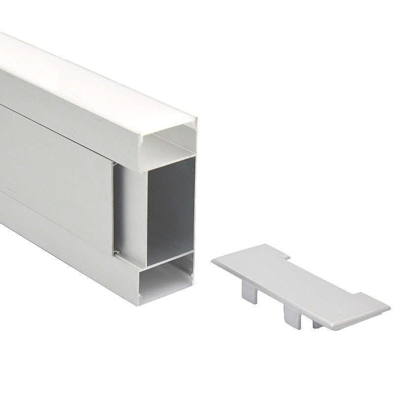 Perfil aluminio WALL para tiras LED, 1 metro