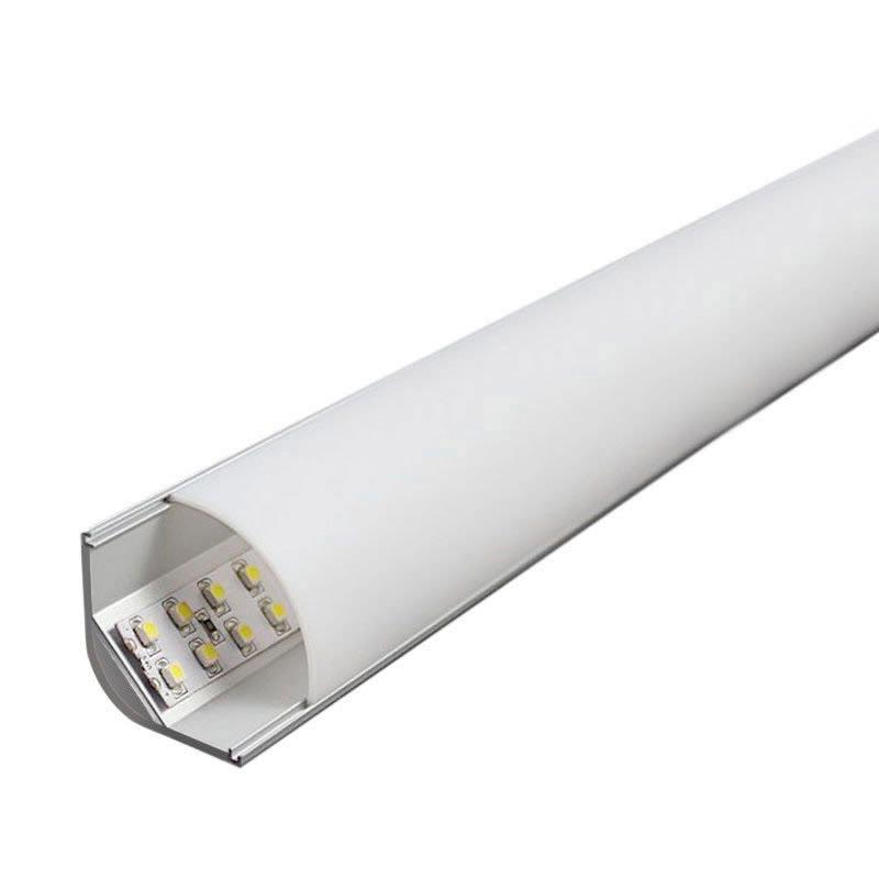 KIT - Perfil aluminio KORK para tiras LED, 1 metro