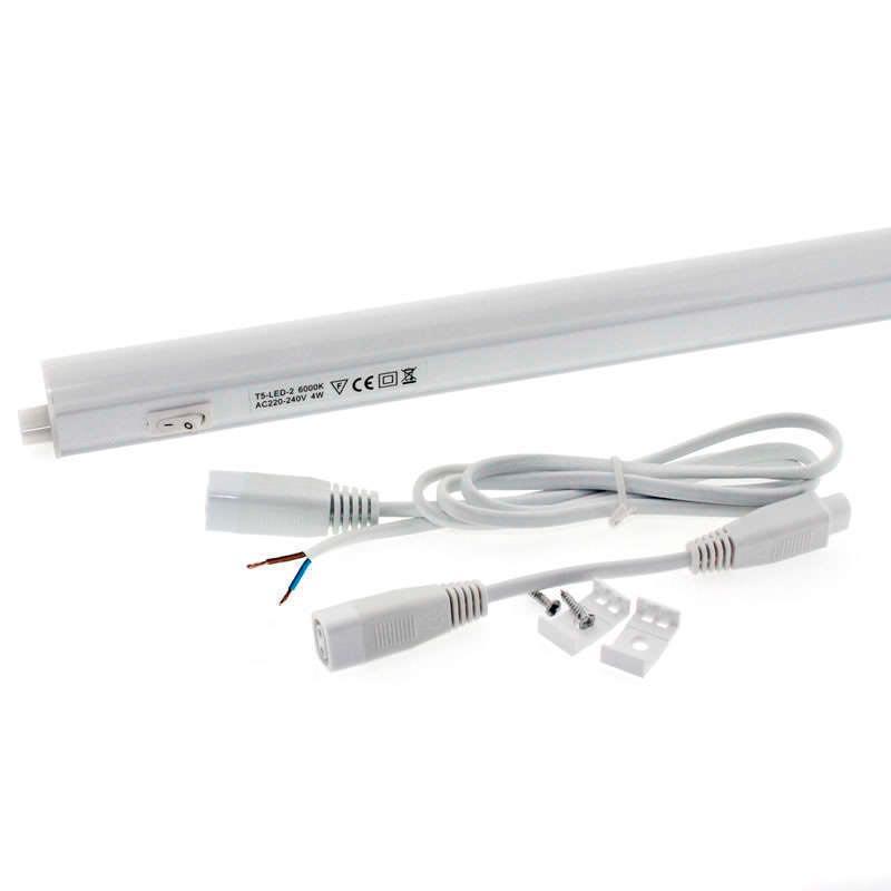 Tubo LED T5 Integrado con interruptor, 4W, 31cm