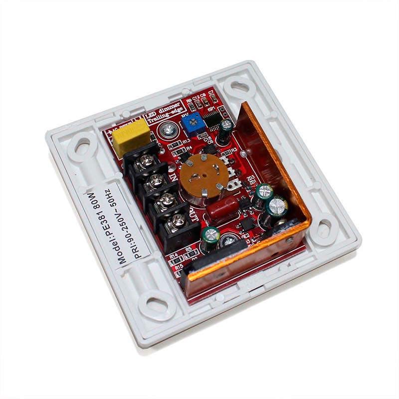 TRIAC Dimmer PWM + mando IR, 80W