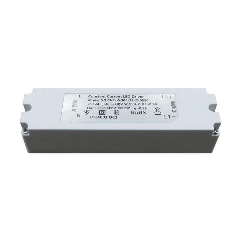 Driver para panel LED DC50-65V/40W/550mA