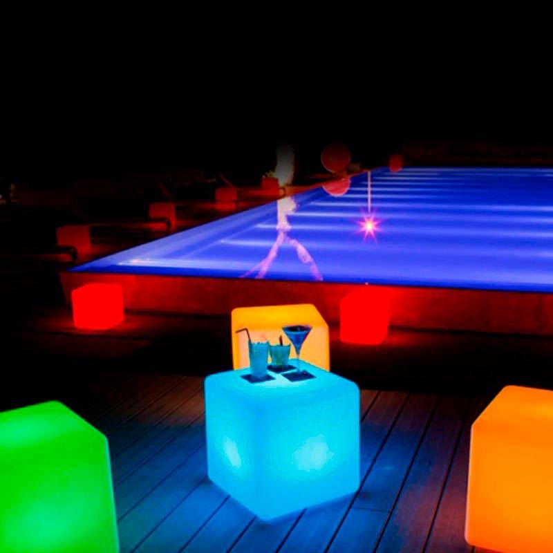 Cubo luminoso led LITEN KUB RGB recargable