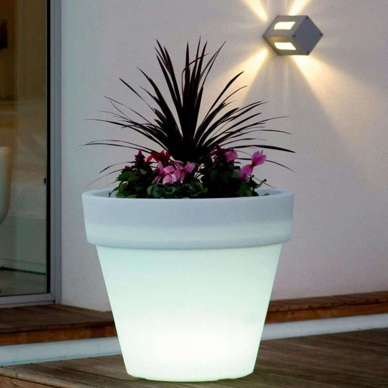 Led cube planter BIG RGB