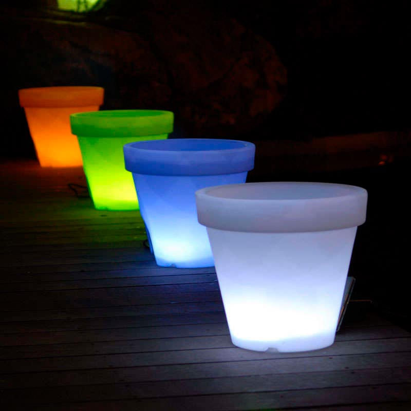Led cube planter MEDIAN RGB rechargeable