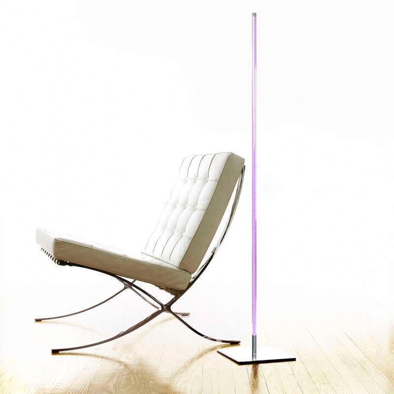 lámpara de pie led LUMO LIGNO KVADRATA RF, 20W