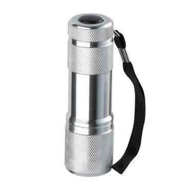 LED torch made of aluminium (9 leds)