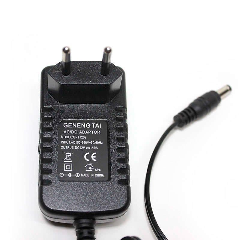 Adaptador de corriente DC12V/24W/2A, con interruptor