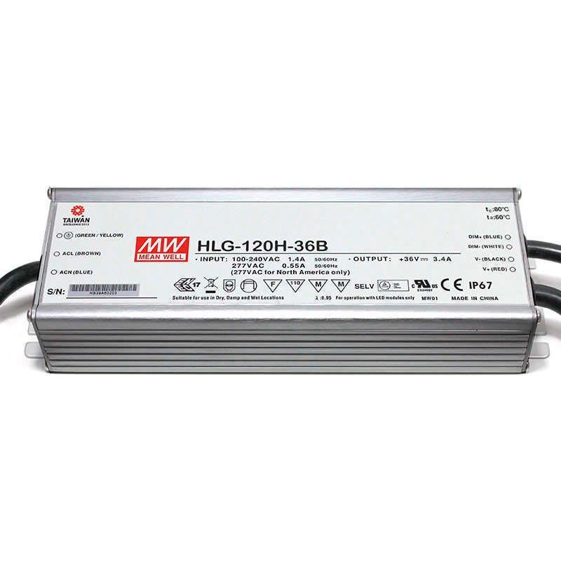 LED Driver Mean Well DC18-36V/120W/3400mA Regulable 0-10V