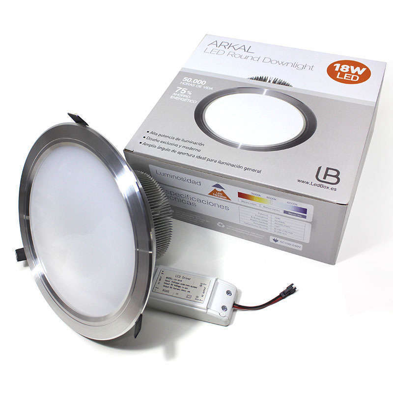 Downlight Led ARKAL 18W silver