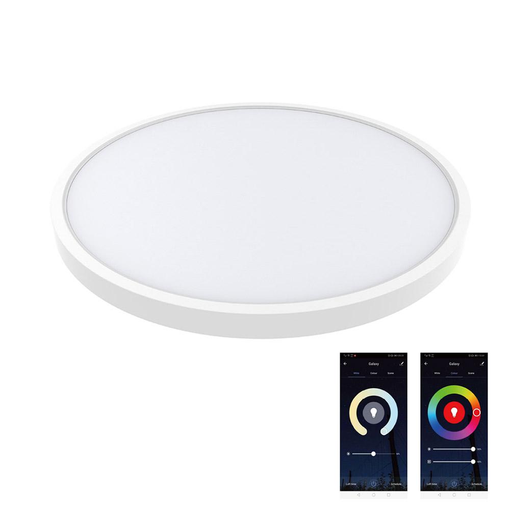 KRAMFOR 20+4W luz de teto LED, superfície, RGB+CCT, WiFi, RGB + Dual white, ajustável
