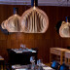 GLOBO Lámpara de madera Ø220mm