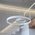 Luminaria colgante RING 73W, Ø100cm, Blanco frío