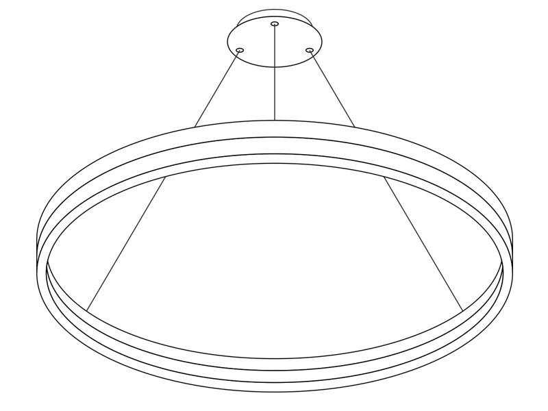 L Mpara Led Colgante Ring 73w 100cm Ledbox