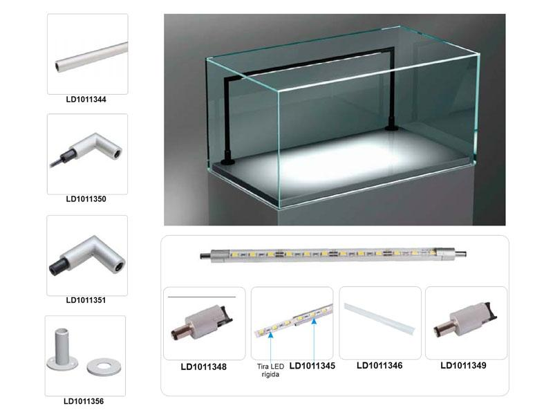 comprar caja vitrina con iluminacion led 1 24 amazon