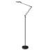 Lámpara de pie BRESSLO articulada, negro, Blanco neutro, Regulable