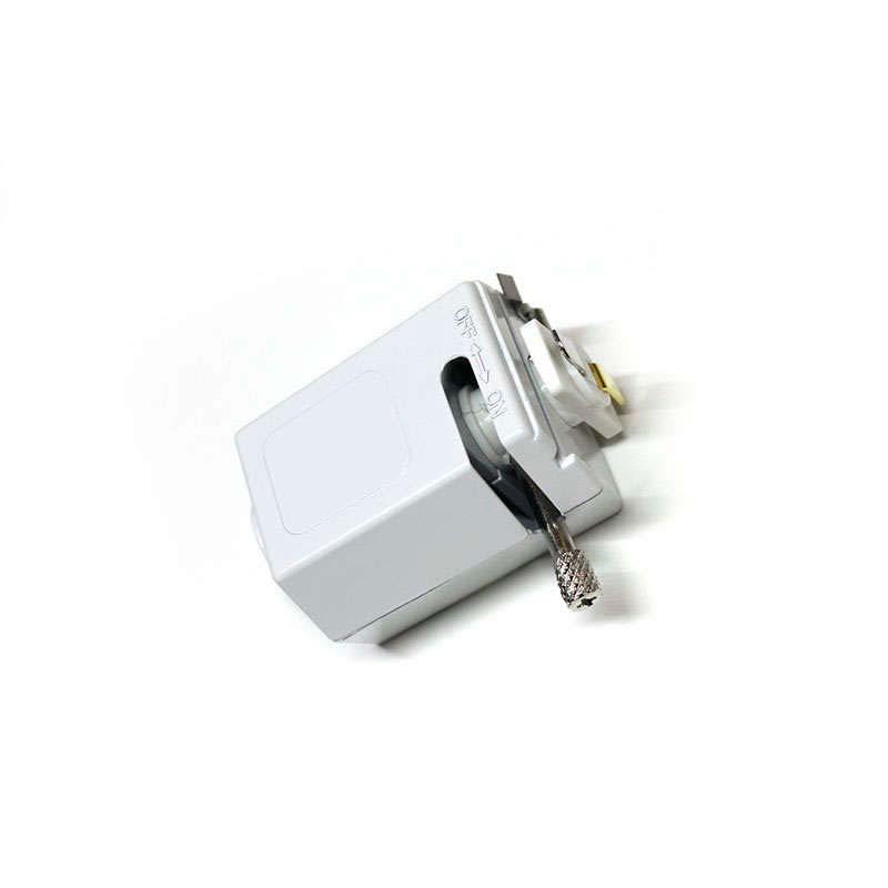 Conector foco a carril monofásico, blanco